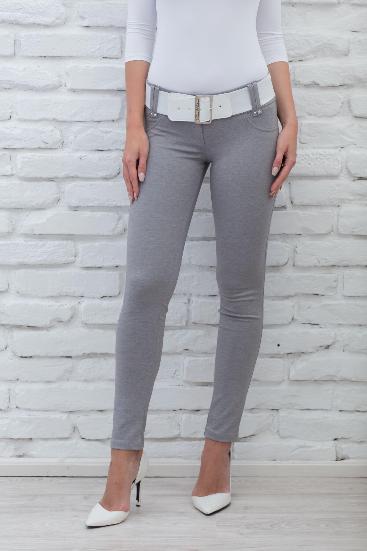 0ab3d548ef Öves puntó nadrág (elasztikus) szürke - Nadrágok, szoknyák - Blue ...