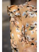 Vállán fodros virágos felső - MICIN