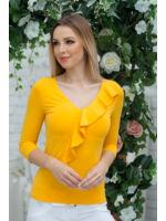 Átlapolt fodros felső ALEXA - sárga