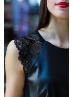 Erina flitteres csipkés bőr felső