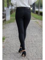 Hátul íves, oldalt betétes nadrág (elasztikus)  - fekete