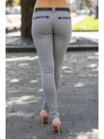 Négy cippzáras nadrág SISI - szürke