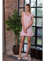 Fodros vállú A-vonalú ruha TAMMY - rózsaszín