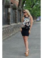 Kombinált ruha ALEXIA - virágos mintás/sötétkék