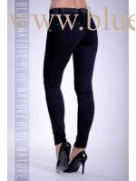 Öves puntó nadrág (elasztikus) kék
