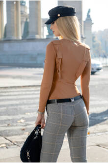 Alina öves nadrág - Kockás