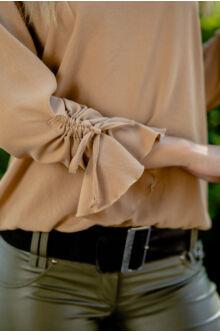 Húzott ujjú bő felső SHARLOT - őz barna