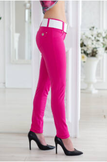 Öves puntó nadrág (elasztikus) - pink