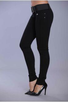 Hátul íves nadrág - fekete