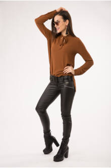 Kent 4 cipzáras , bőrhatású nadrág