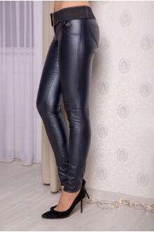 Kent bőrhatású nadrág - Sötétkék