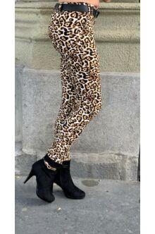 Alina öves nadrág - Párducmintás