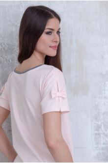 Masnis ujjú kombinált ruha NIKI rózsaszín-szürke
