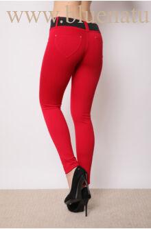 Öves puntó nadrág (elasztikus) - Piros