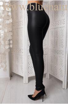 Oldalt gumis kent nadrág - fekete