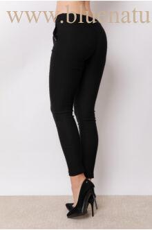 Elöl megkötős nadrág (elasztikus)  - NiNA - Fekete