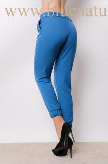 Megkötős laza vonalú nadrág - AMY - Kék