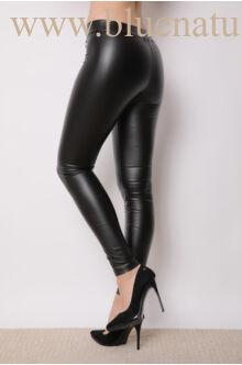 Bőrhatású leggings - Fekete