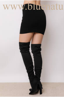Darabolt miniszoknya (elasztikus) - Fekete