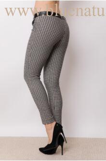 Öves bengalin nadrág (elasztikus) - ALINA - Apró kockás (fekete)