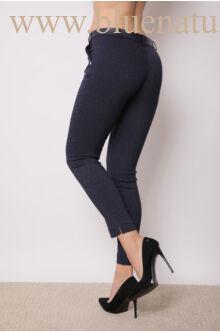 Öves bengalin nadrág (elasztikus) - ALINA - Sötétkék/fehér pöttyös