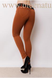 Öves puntó nadrág (elasztikus) - Barna