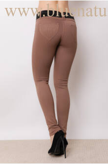 Öves puntó nadrág (elasztikus) - Mogyoró barna