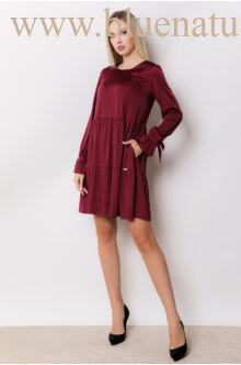 Fodros bő ruha - NARINA - Bordó