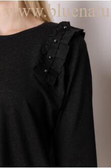 Hátul hosszított gyöngyös vállú ruha - NAYA - Szürke