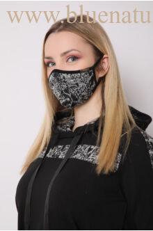 Kapucnis oldalt zsebes sportos ruha - ELMA - Fekete/állatmintás