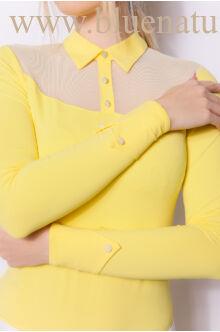 Neccbetétes kombinált felső - ROZY - Sárga