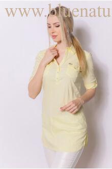 Három patentos ingtunika - Pasztell sárga