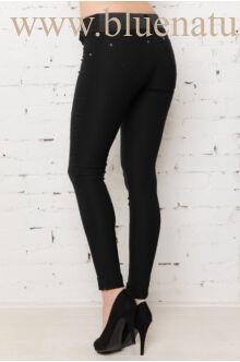 Bengalin nadrág behúzottöves (elasztikus)  - fekete