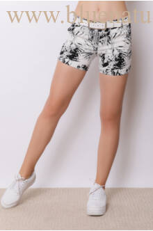 Bengalin Short (elasztikus) - ALINA - Levélmintás