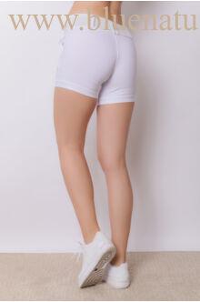 Bengalin Short Széles Derékpánttal(elasztikus) - ALINA - Fehér