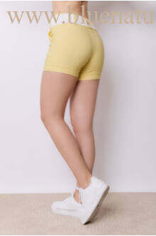 Bengalin Short Széles Derékpánttal(elasztikus) - ALINA - Sárga
