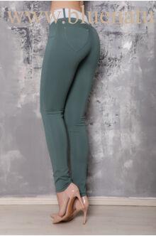 Öves puntó nadrág (elasztikus) - sötét zöld