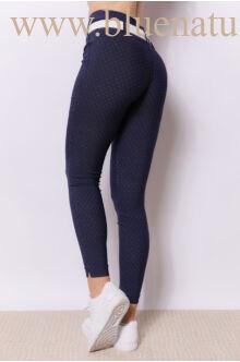 Dupla derékpánttal díszített magasított nadrág EDINA - Pöttyös