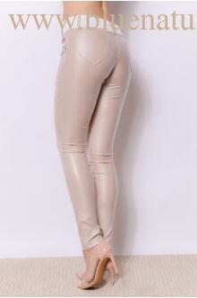Kent bőrhatású nadrág - Bézs