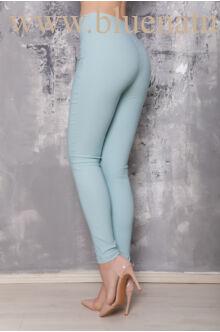 Magasított derekú elöl cipzáros nadrág (elasztikus) - MARA - Menta