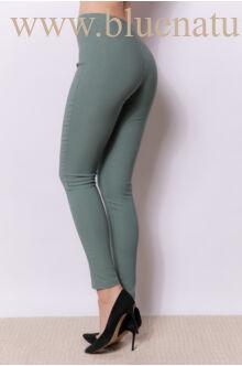Magasított derekú elöl cipzáros nadrág (elasztikus) - MARA - Sötétzöld