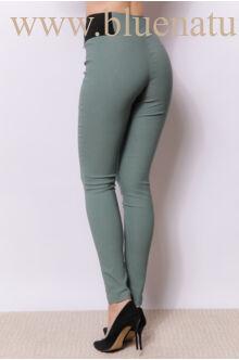 Oldalt gumis bengalin nadrág (elasztikus)- Sötétzöld