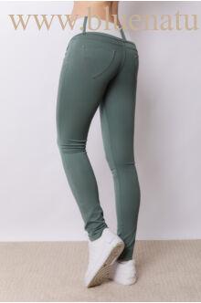 Széles derékpántú puntó nadrág (elasztikus) - Sötétzöld