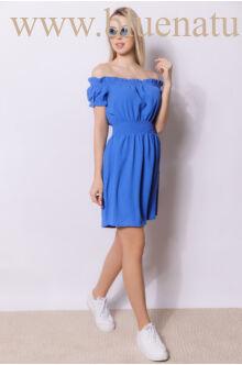 Derékban gumírozott ruha - MIAMI - Kék