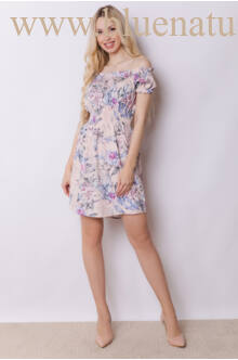 Derékban gumírozott ruha - MIAMI - Virágmintás