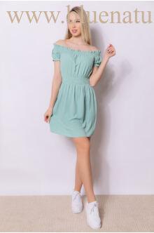 Derékban gumírozott ruha - MIAMI - Zöld