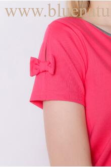 Masnis ujjú kombinált ruha - NIKI - Pink