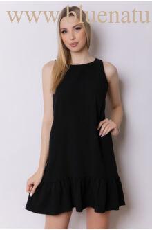 Alul fodros hátul masnis ruha NORMA - Fekete