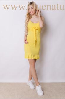 Elöl megkötős fodros aljú ruha - LUPA - Sárga