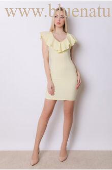 Elől fodros ruha - FLORIDA - Sárga